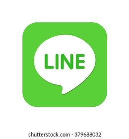 Line messager app chat icon button isolate.