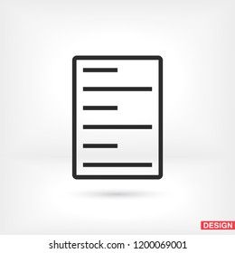 line note paper Vector icon
