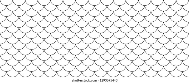 Line pattern circle wave fish scales background Memphis style Design shapes elements polka dot Vector Geometric chinese seamless Texture scrapbook Reptile Retro Japanese zigzag transparent water Roof