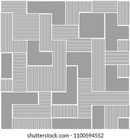 Line pattern of geometric drawings in white background. Seamless vector background. Modern monochrome texture. Parallel lines.