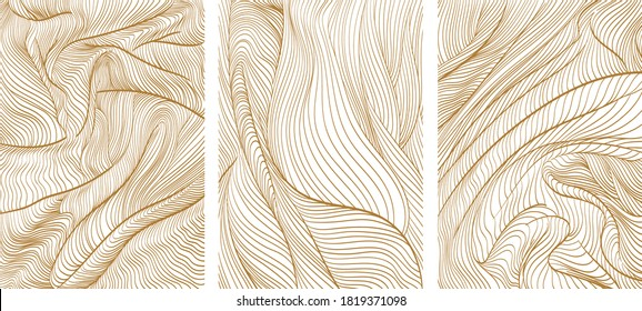 Line pattern in luxury style vector. Elegant background with abstract template.