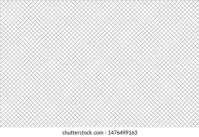 Line pattern white and black background. The grid wallpaper retro. Modern Vector illustration surface. Page blank note texture.