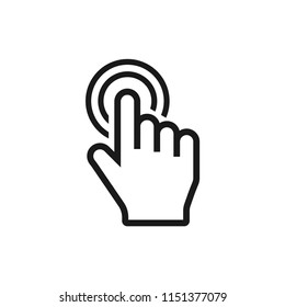 line push,select,press,up icon.finger press,finger click,hand click,thumb,button click,choice,choose,touch,mouse symbol vector illustration isolated for web and mobile app on white background