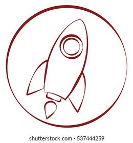 line rocket Icon
