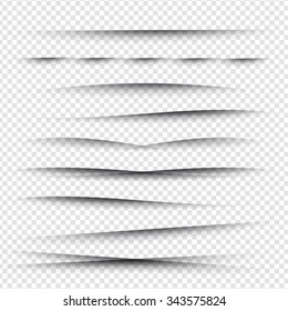 Line Shadow - Website Design Elements on Isolated Background