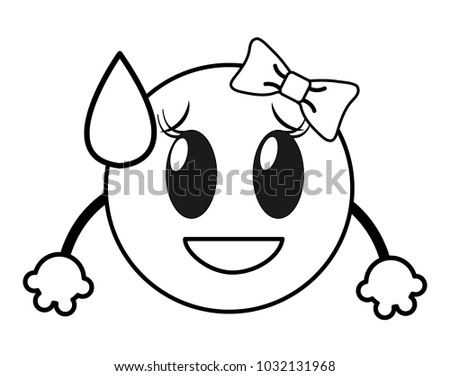 line shame laugh female emoji face stock vector royalty free Funny Laughing Clip Art line shame laugh female emoji face with arms