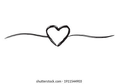 Line shape black shadow silhouette heart  white blue background vector decoration ornament font lettering calligraphy love happy valentine 14 fourteen february wedding romantic together.