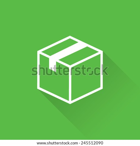 Line Shipping Box Icon