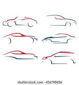 Line  Silhouette Car Illustration Bundle