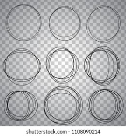 line sketched circles set