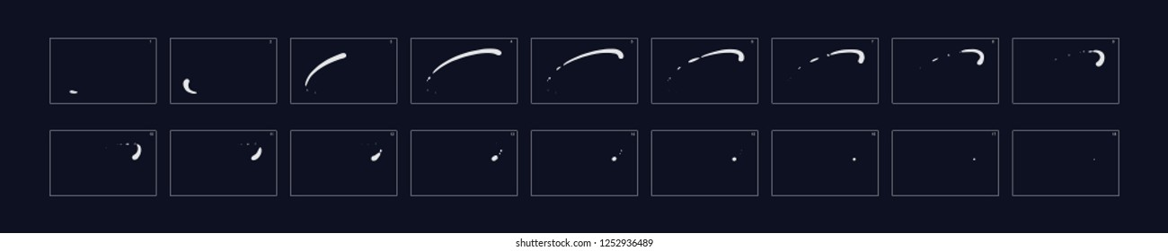 Line  Smoke  Animation. Smoke animation. Animation of smoke. Sprite sheet for game or cartoon or animation