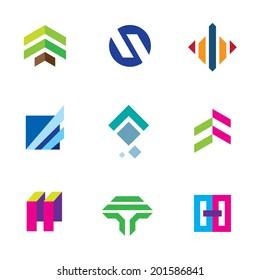 Line stripe tape elegant shape exclusive logo bond connection icon