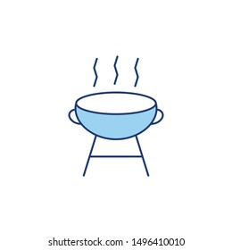 line style icon for barbecue grill