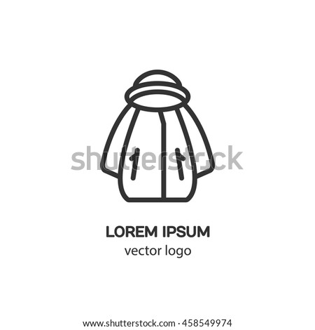 Line Style Logotype Jacket Isolated On Stock Vector Royalty Free