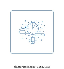 Line style pictogramm, symbols for web. Button of business report. Isolated on background and easy to use. Perfect icon your site. Vector line style icons