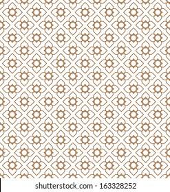 Line thai art pattern vector illustration.