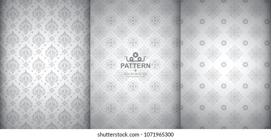 Line Thai, The Arts of Thailand, Thai pattern background.