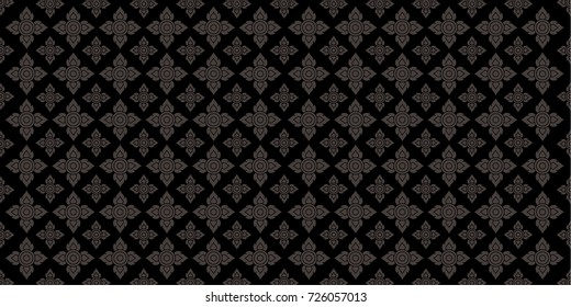 Line Thai, The Arts of Thailand, Thai pattern background. Vector illustration