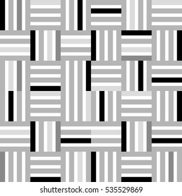 line tile, grayscale - Geometric seamless pattern