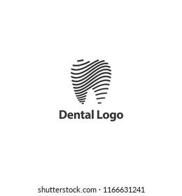 line tooth symbol logo dental vector. medical concept