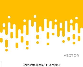 Line transition pattern background, abstract irregular geometric texture. Creative digital liquid graphic design, vector yellow white color halftone line pattern background