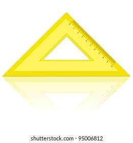 line of the triangle on a white background. Rasterized version also available in portfolio.