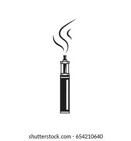 Line vape device symbol. Electronic cigarette. Vaping store or bar icon.