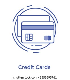 Line vector design of credit card icon