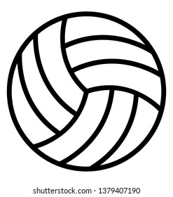 Line vector design of volleyball icon.