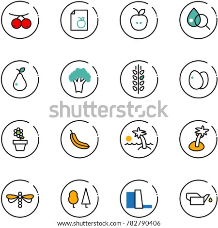 Line Vector Icon Set Rowanberry Vector Stock Vector (Royalty