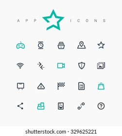Line vector icons for websites and mobile minimalistic flat design. Collection modern trend concept design style illustration symbol. Isolated minimal single flat icons in black and white colors