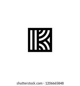 Line Vector Logo Letter K. K Letter Design Vector Lines