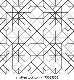 Line vector seamless pattern. Repeating geometric tiles. Modern stylish texture. Monochrome design.