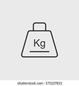 Line  weight  icon illustration isolated vector sign symbol