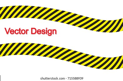 line yellow and black color. Caution sign. Warning sign.
