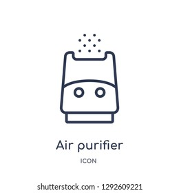 Linear air purifier icon from Electronic devices outline collection. Thin line air purifier icon vector isolated on white background. air purifier trendy illustration