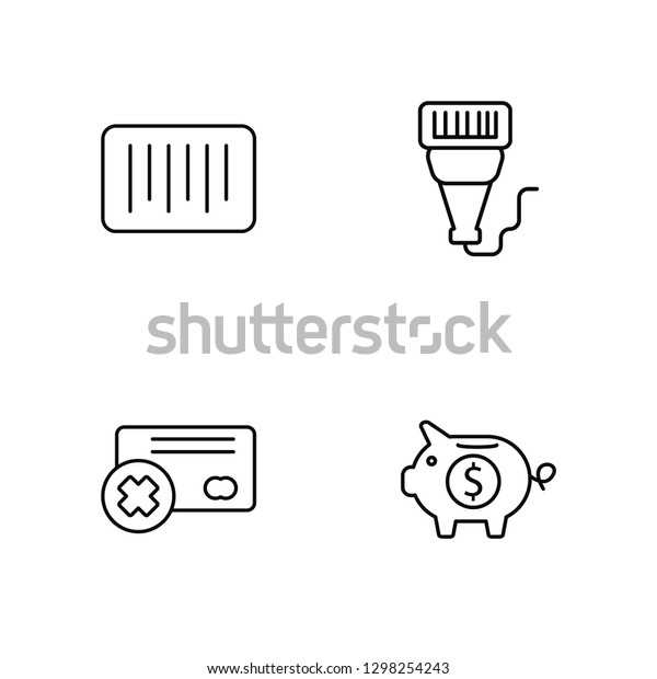 Linear Barcode Cit Card Barcode Scanner Stock Vector
