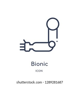 Linear bionic icon from Artifical intelligence outline collection. Thin line bionic vector isolated on white background. bionic trendy illustration