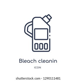 Linear bleach cleanin icon from Cleaning outline collection. Thin line bleach cleanin vector isolated on white background. bleach cleanin trendy illustration