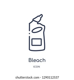 Linear bleach icon from Cleaning outline collection. Thin line bleach vector isolated on white background. bleach trendy illustration