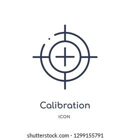 Linear calibration icon from Measurement outline collection. Thin line calibration icon isolated on white background. calibration trendy illustration