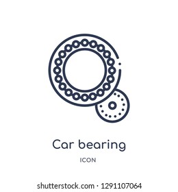Linear car bearing icon from Car parts outline collection. Thin line car bearing vector isolated on white background. car bearing trendy illustration