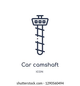 Linear car camshaft icon from Car parts outline collection. Thin line car camshaft vector isolated on white background. car camshaft trendy illustration