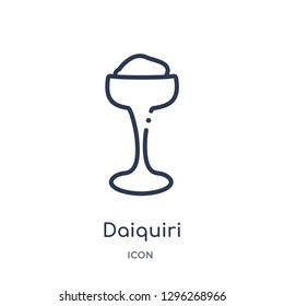 Linear daiquiri icon from Drinks outline collection. Thin line daiquiri icon vector isolated on white background. daiquiri trendy illustration