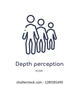Linear depth perception icon from Artifical intelligence outline collection. Thin line depth perception vector isolated on white background. depth perception trendy illustration
