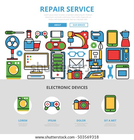 linear-flat-repair-service-infographics-