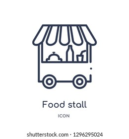 Linear food stall icon from Culture outline collection. Thin line food stall icon vector isolated on white background. food stall trendy illustration