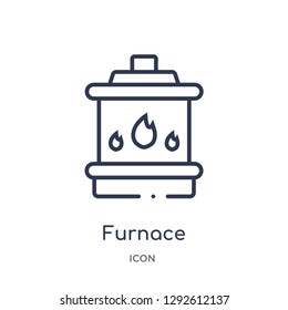 Linear furnace icon from Electronic devices outline collection. Thin line furnace icon vector isolated on white background. furnace trendy illustration