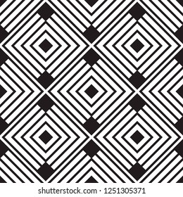 Linear geometric seamless pattern background with squares. Vector illustration.