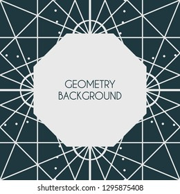 Linear geometry background with the frame for a text. Vector linear design